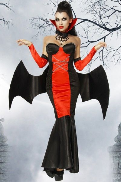 bat wing vampire halloween fancy dress costume uk 8 10